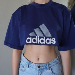 Cropped adidas jersey top
